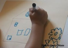 """Number Drawing """"Can you draw 1 door, 2 windows, 3 clouds, 4 flowers?"""" [No link] Critical Thinking Activities, Math Activities For Kids, Drawing Activities, Preschool Lesson Plans, Free Preschool, Interactive Activities, Fun Learning, Educational Activities, Preschool Ideas"""