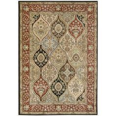 "Nourison Gramercy Multi Wool-Blend Oriental Rug (5'3"" x 7'5"") (1), Size 5'3"" x 7'5"" (Polyester, Floral)"
