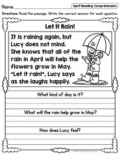 """I hope that your students will enjoy these no prep April themed reading passages! Included are a mix of twenty fiction and nonfiction sight word passages, plus a bonus """"What am I?"""" passage that is extra fun for kids! Topics include rainy weather, April Fools' Day, painting and hunting eggs, bunnies, chicks, spring cleaning, kites, baseball, Earth Day, Arbor Day, and more!"""