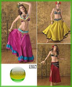 Simplicity 2158 Exotic Belly Dance Top Skirt & Belt Patterns