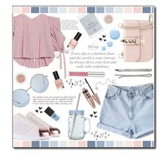"""""""Every day is a fashion show..."""" by ana-a-m ❤ liked on Polyvore featuring Caroline Constas, adidas Originals, Valentino, Dogeared, New Look, Madewell, Bobbi Brown Cosmetics, Eve Snow, Topshop and Maybelline"""