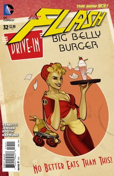 The Flash (DC Comics, 2011) #32 Bombshell Variant Cover
