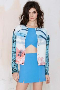 Alice McCall Sea Float Bomber Jacket - Jackets | Alice McCall | Clothes