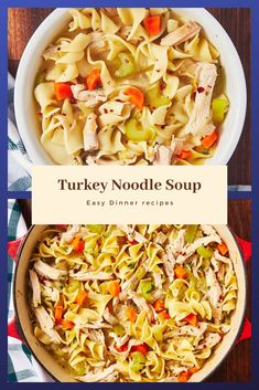 Find easy-to-make comfort food recipes like Healty recipes, dinner recipes and more recipes to make your fantastic food today. Diner Recipes, Beef Recipes, Real Food Recipes, Soup Recipes, Turkey Noodle Soup, Turkey Soup, Easy Egg Recipes, Healthy Dinner Recipes, Casserole Recipes