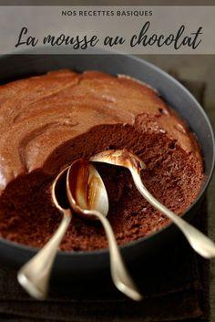 Mousse au chocolat recette - mousse au chocolat facile. #chocolat #recette #recettefacile