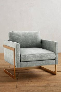 Anthropologie Slub Velvet Meredith Chair