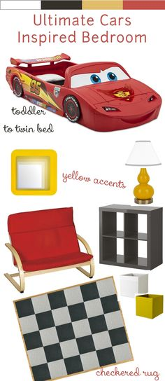 Cars Inspired Toddler to Big Boy Bedroom