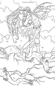With you Adult sexy angel coloring pages to print
