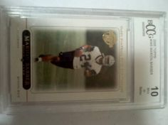 1-Topps Marion Barber Graded By BCCG Mint 10 Card is a 2005 Rookie Card!