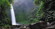Balinese Travel: Nungnung Waterfall - See The Beauty of One of The Highest Waterfalls in Bali Beautiful Waterfalls, Balinese, Natural Beauty, Island, Explore, Nature, Travel, Outdoor, Outdoors