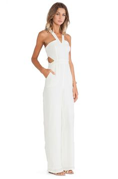 Lovers + Friends Adore You Jumpsuit em Ivory | REVOLVE