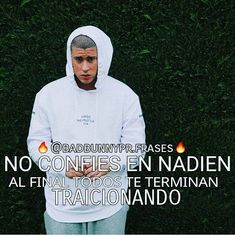 Resultado de imagen para imagenes de bad bunny con frases Trapped Quotes, Bunny Quotes, Funny Iphone Wallpaper, Real Talk Quotes, Sad Love, Pretty Men, Love Her Style, Spanish Quotes, Picture Quotes