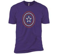 Marvel Captain America Avengers Shield Neon Light T-Shirt