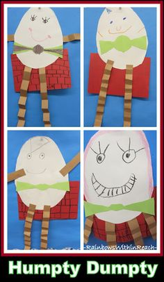photo of: Kindergarten Study of Nursery Rhymes: Humpty Dumpty Craft Project