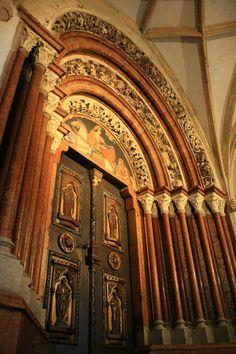 "Pannonhalma, ornated door so called ""Porta Speciosa"", Hungary"