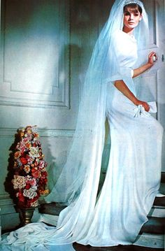 Vogue Patterns Counter Master Book Summer 1965  Jean Shrimpton in a wedding gown by John Cavanagh