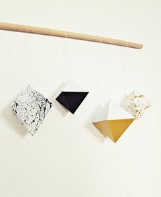 Ahoj-2012 Papier-Diamant, Baumschmuck, 4er-Set von Ahoj-2012 auf DaWanda.com