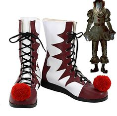 Pennywise Cosplay Shoes 2017 Film IT Halloween Clown Cosplay Costume Boots Custom Made:   Pennywise Cosplay Shoes 2017 Film IT Halloween Clown Cosplay Costume Boots Custom Madebr Return Policy br Return is accepted within 7 days after the buyer's receiving the item. br If this item is defective upon receipt, customer has up to 7 days from date of receipt for exchange of a new one. br If the product has no quality problem and the buyer wants a return due to size problem, please note tha...