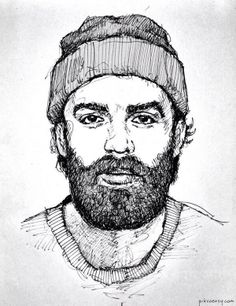 awesome and pretty accurate drawing of Chet Faker