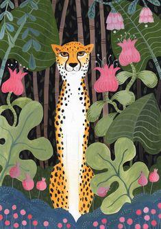 Painting Inspiration, Art Inspo, Whats Wallpaper, Jungle Illustration, Animal Illustrations, Jungle Art, Jungle Animals, Posca Art, Guache