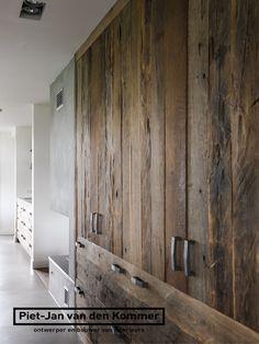 Farmhouse by Piet-Jan van den Kommer - Piet-Jan van den Kommer Sliding Wardrobe Doors, Diy Furniture, Cool Rooms, Modern Rustic Master Bedroom, Furniture Decor, Brick And Wood, Wood Wardrobe, Rustic Kitchen, Basement Design