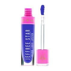 Jeffree Star Cosmetics Blue Velvet Liquid Lipstick ($21) ❤ liked on Polyvore featuring beauty products, makeup, lip makeup, lipstick, lips, lips makeup, velvet lipstick, blue lipstick, matte finish lipstick and blue matte lipstick