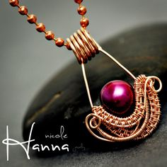 Nesting Pendant | JewelryLessons.com by Nicole Hanna #wire_wrapping_tutorial