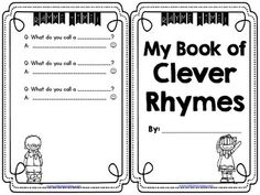 FREE Clever Rhymes Mini Book for Fun Fluency Practice  English Language Arts, Balanced Literacy, Reading 2nd, 3rd, 4th, Homeschool...This free Clever Riddles Mini-book is a fun way to practice fluency with a friend. Copy double-sided and fold for a super cute booklet - no staples, no cutting. The Melonheadz graphics look great in black/white, and the back has space for students to record their own riddles...