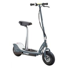 Razor E300S Electric Scooter with Seat - Matte Gray - 13116214