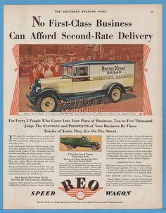 1929 REO Speed Wagon Richter's Bakery San Antonio Texas Butter Krust Bread Ad