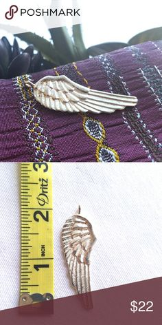 """NWOT Sterling Silver Wing Pendant Large sterling silver wing pendant. I've had it for a while but never wore it. Stamped 9.25 on the back.  About 2"""" high. Jewelry Necklaces"""