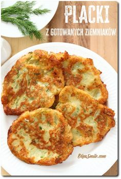 PLACKI Z GOTOWANYCH ZIEMNIAKÓW Polish Recipes, Baked Potato, Quiche, Cauliflower, Vegan Recipes, Food And Drink, Gluten Free, Favorite Recipes, Snacks