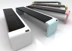 Solar-Powered Bench Is Eco- And Geek-Friendly : TreeHugger