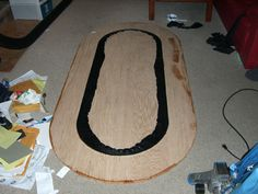 Adding playing surface to the race track