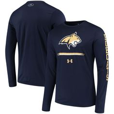 92c27249b6 Montana State Bobcats Under Armour Tech Long Sleeve Performance T-Shirt -  Navy