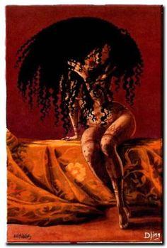 I want a mane like this Art Black Love, Black Girl Art, Art Girl, African American Art, African Art, Natural Hair Art, Black Art Pictures, Black Goddess, Black Artwork