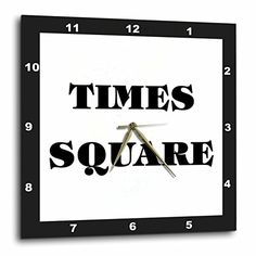 3dRose Huge Words Saying Times Square Which is in New York Wall Clock 10 by 10 * Find out more about the great product at the image link.