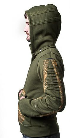 A soft and comfy, mens boho style hoodie, great festival wear!