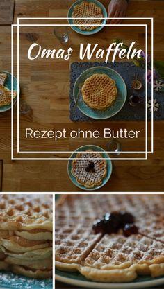 Ich liebe duftende köstliche Waffeln wie bei Oma - Omas Waffeln, aber geht das auch ohne Butter? Ja klar und sie schmecken genauso himmlisch. Zum Rezept einmal hier entlang... waffelrezept omas waffeln ohne butter