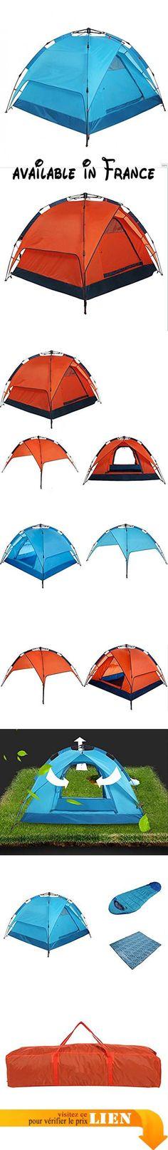 B072BV59JW : GOUQIN Tente 3-4 Personne Automatiquement Sur Loisirs Camping Tentes Doubles Bleu Équipement De Sports De Plein Air. Parfait pour les fêtes et les voyages de camping. Imperméable à l'eau léger et robuste. robuste finition avec coutures scellées étanches & matériel ignifuge font cette tente spacieuse très durable. Spacieux espace pouvant accueillir bottes et gros emballages. Imperméable à l'eau Anti-déchirure résistant à l'usure respirante #campingtents