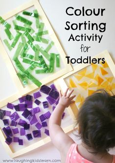 Colour sorting activity for toddlers