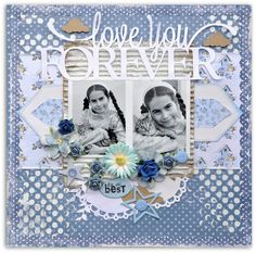 Layout: Love You Forever Wedding Scrapbook Pages, Love You Forever, Page Layout, Scrapbooking Layouts, Wood Pallets, Print Patterns, Gallery, Paper, Frame