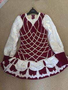 Dazzling Pink Irish Dance Dress Solo Costume For Sale