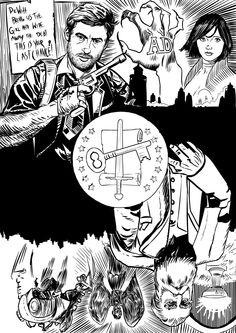 Bioshock Infinite - I am Both - Sketch by ObalofSerbia.deviantart.com on @DeviantArt