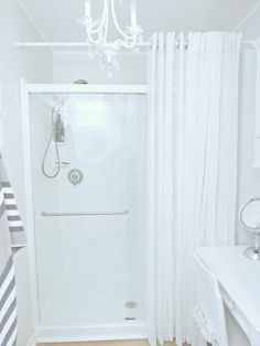 Junk Chic Cottage: Easy Spa Up Date To Shower Floor