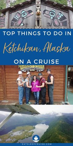 If your Alaskan cruise vacation includes a stop in Ketchikan, you'll want to check out our post for the top things to do while you're visiting this cruise port. We give our picks for the best tours and shore excursions to enjoy during your visit to Ketchikan. Soar above the Misty Fjords in a floatplane, explore a former red-light district, marvel at totem poles, or attend a real-life lumberjack show. There's something for everyone and ample opportunity for photography. Start planning today! Best Cruise, Cruise Port, Cruise Tips, Cruise Vacation, Cruise Excursions, Cruise Destinations, Shore Excursions, Lumberjack Show, Native American Totem