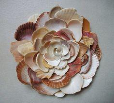 Wall Art Flower Sculpture, Seashell Art. $63.99, via Etsy.