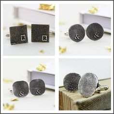 These are perfect for everyday wear or special days - wear on a wedding day, a gift for the Father of the Bride, Father's Day... Whatever the occasion, they are sure to become his favourite cufflinks!  http://www.notonthehighstreet.com/fingerprintjewellery
