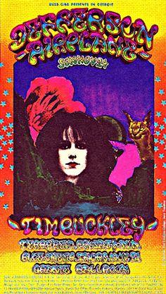 Retronaut - Psychedelic Postcards, Grande Ballroom, Detroit #jeffersonairplane #timbuckley