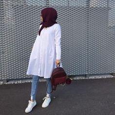 Likes, 56 Comments – Ebru ( on I… Modern Hijab Fashion, Street Hijab Fashion, Hijab Fashion Inspiration, Islamic Fashion, Muslim Fashion, Modest Fashion, Fashion Outfits, Hijab Style, Hijab Chic